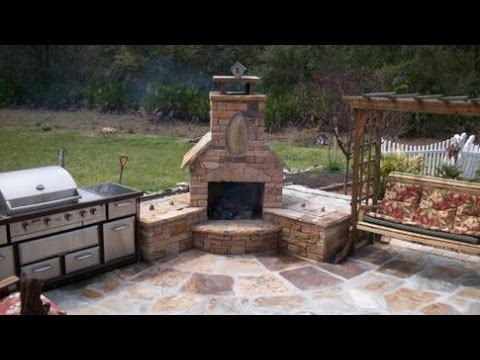 Outdoor Corner Fireplaces - YouTube