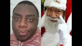 The black Santa in Minnesota is driving people crazy lmao