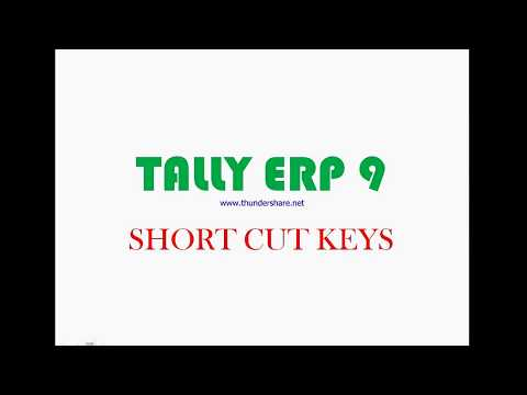 tally short cut keys Shortcut keys in tally the shortcut keys appear in button names in the button bar (right side of the tally screen) you can either click the button from the button bar or press the relevant function key or character underlined/double-underlined.