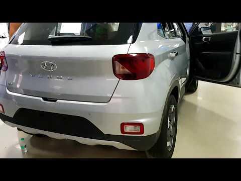 new Hyundai 2019 Venue launch unveil silver color review walkaround