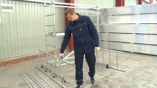 видео Сборно-разборные передвижные алюминиевые подмости