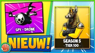 SPY DRONE & SEASON 5 TIER 100 SKIN!?! - Fortnite: Schlacht Royale