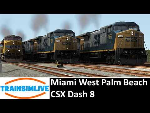 Train Simulator 2015 - Miami West Palm Beach, CSX Dash 8