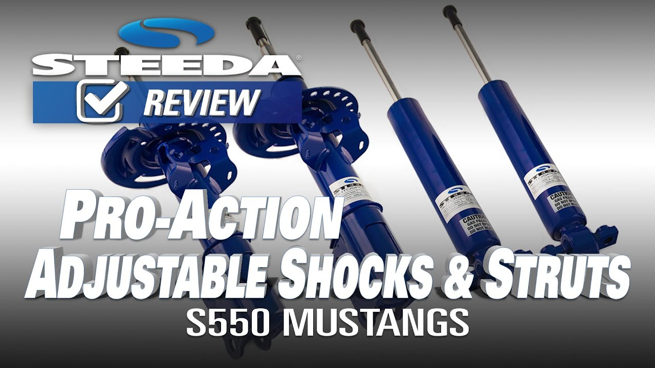 Steeda S550 Mustang Pro Action Adjustable Shocks & Struts GT/V6/EcoBoost  (2015-2019)