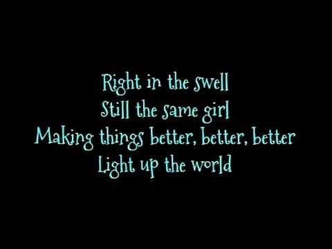 Barbie movie song: Light up the world lyrics on screen