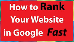 How To Quickly Rank Your Web Page In Google