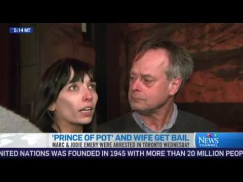 CTV - Jodie and Marc Emery Released on Bail