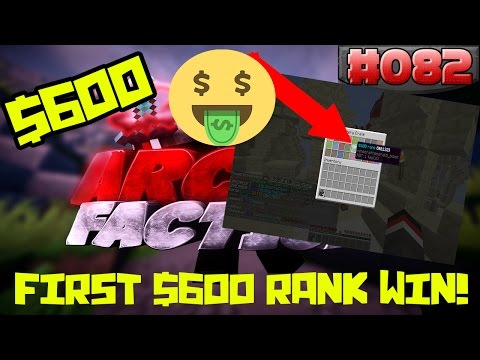 Minecraft FACTIONS Let's Play #82 - FIRST $600 RANK WINNER ON NEW SERVER!