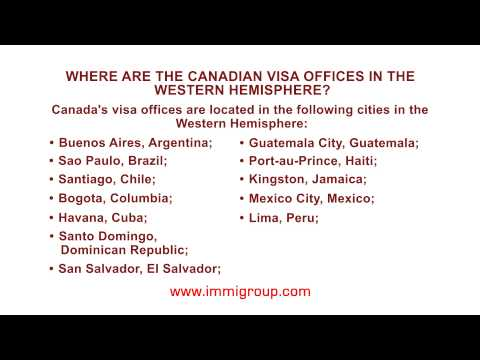 Where are the Canadian visa offices in the Western Hemisphere?