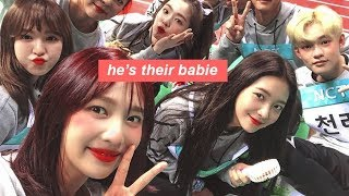 red velvet is chenle's fan club and joy is the president