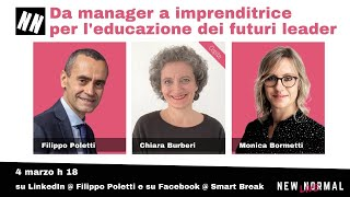 A New Normal Live la manager Chiara Burberi: conducono Monica Bormetti e Filippo Poletti