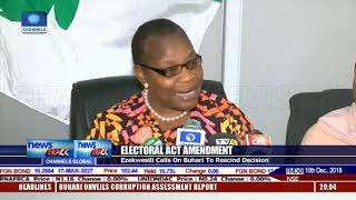 Ezekwesili Asks Buhari To Rescind Decision On Electoral Act