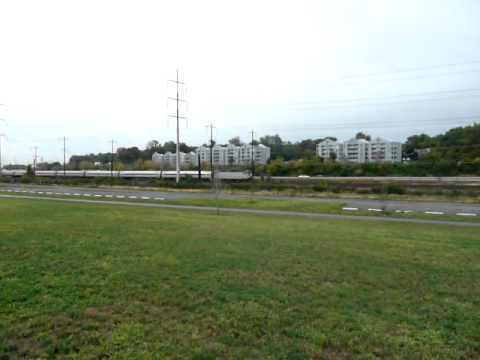 Amtrak Regional AEM-7 near Fox Point SP, Delaware