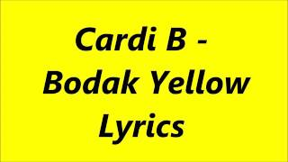 Bodak yellow lyrics song thumbnail