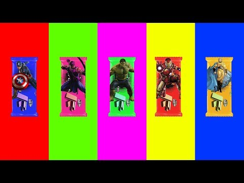 Learn Colors For Kid With Iron Man Hulk Caption America Chocolates Finger Family Song