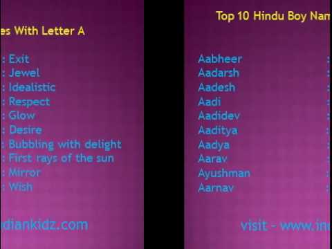 10 Best Hindu Baby Boy And Girl Names With