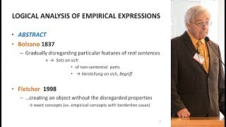 Logical analysis of empirical expressions. What is wrong with empiricism, Pavel Materna