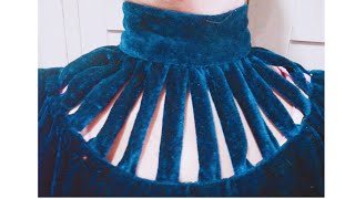 how to make high neck collar design cutting and stitching