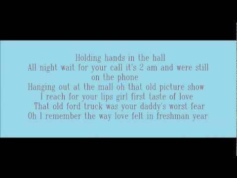 Freshman Year - Brantley Gilbert (Lyrics On Screen)