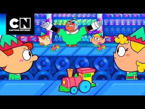 Los Jóvenes Titanes en Acción | En la fábrica de juguetes | Cartoon Network