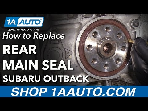 How to Replace Rear Main Seal 04-09 Subaru Outback