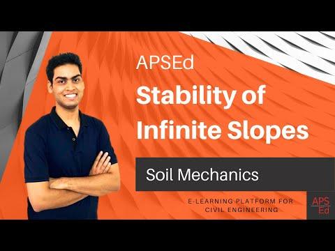 Stability of Infinite Slopes | Soil Mechanics