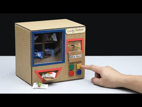 4 Different Candy Vending Machine DIY at Home