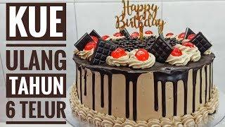 Resep kue ulang tahun blackforest 6 telur