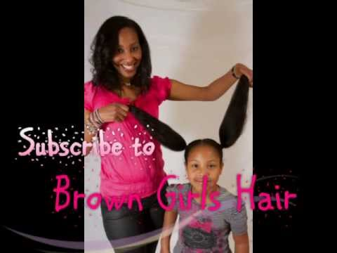 Natural Brown Girls Hair Hairstyles For Girls Youtube