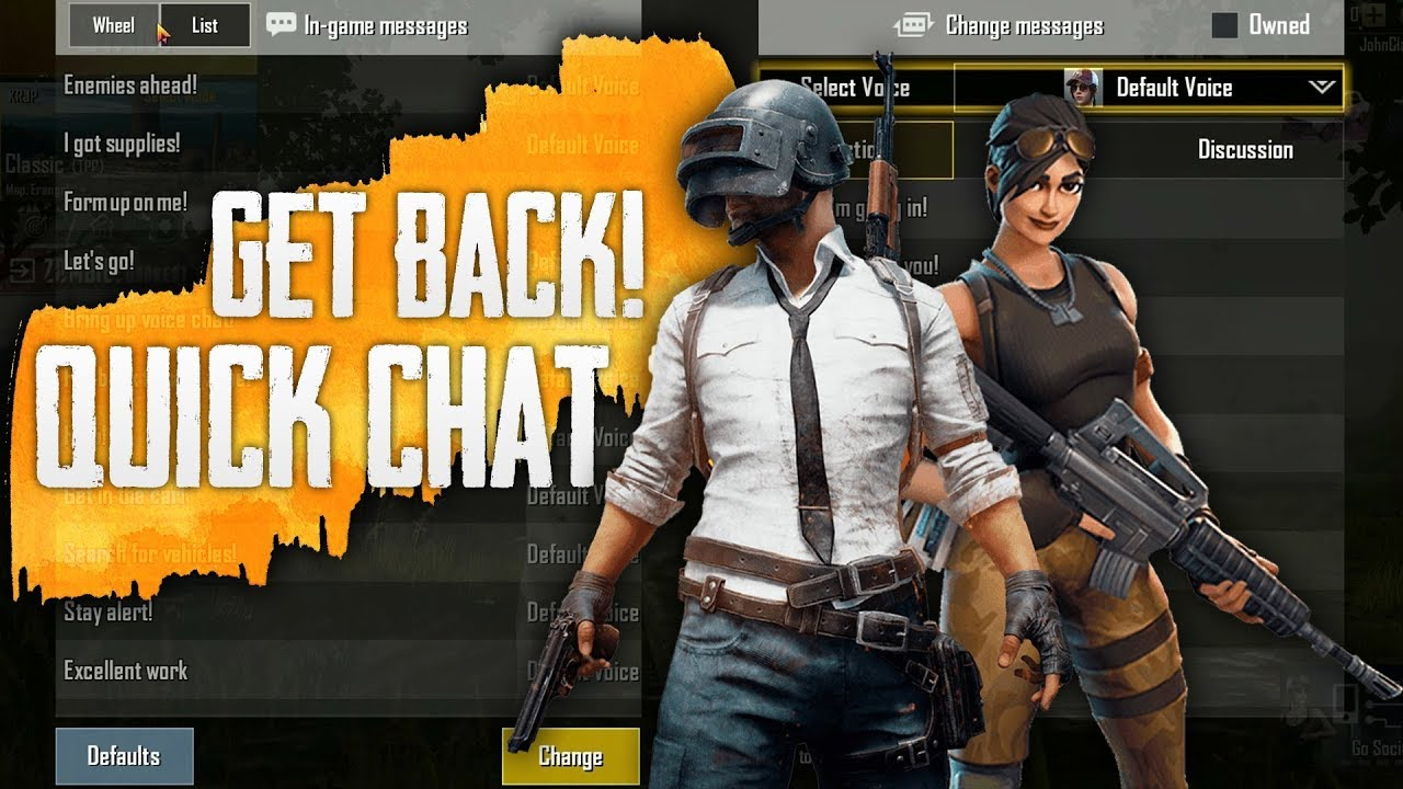 How to Get Back Quick Chat Option in PUBG Mobile | Version 0 12 0