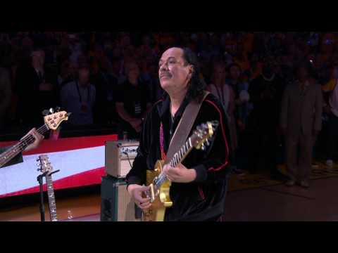 Carlos Santana's Amazing National Anthem Before Finals Game 2