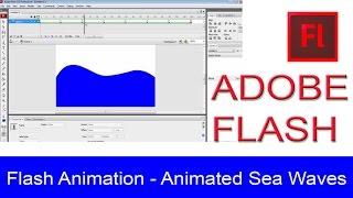 Adobe Flash Tutorial - Animated Sea Waves