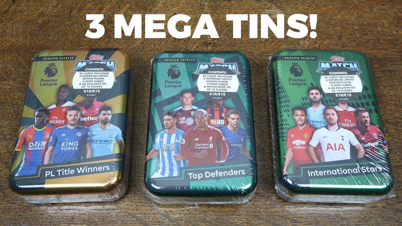 Match Attax 2018//19 18//19 Trading Cards MEGA TIN