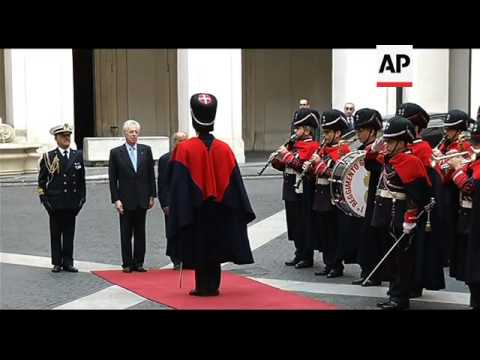 Libyan leader Mustafa Abdel-Jalil meets Italian PM Monti