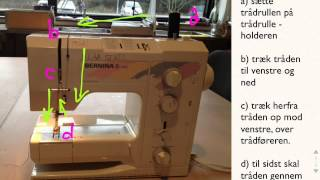 Symaskinen: Tråde Symaskinen, Stinglængde Og Stingbredde