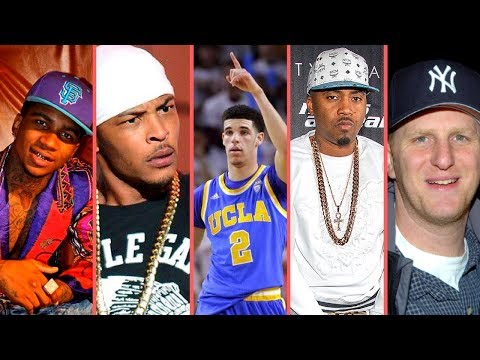"""Rappers React To """"Lonzo Ball Nas Is Not Real Hip-Hop Comments"""" (T.I. Nas Lil B  Michael Rapaport)"""