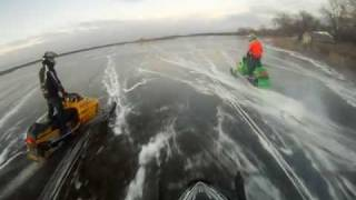 snowmobile waterskip big muskego 3