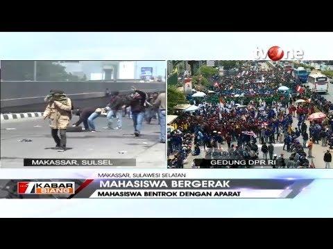 Bentrokan Pecah di Aksi Mahasiswa Makassar