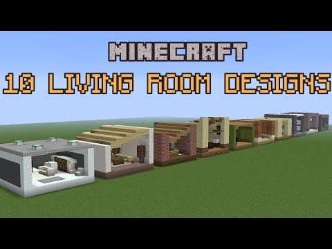 10 Minecraft Living Room Designs!