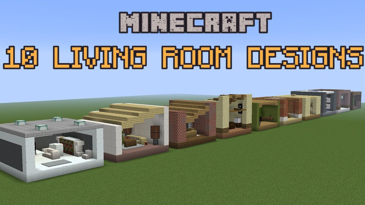 how to make living room furniture in minecraft mustard yellow ideas 10 designs! - youtube
