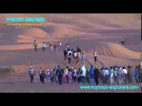 """Erg Chebbi they made a """"footpath"""" up the dune in Morocco"""
