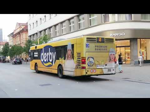 Buses in Ljubljana, Slovenia  23 May 2018
