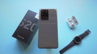 فتح علبة سامسونج جالكسي اس ٢٠ الترا Samsung Galaxy S20 Ultra