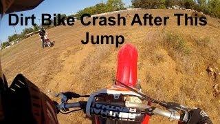Dirt Bike Crash After Jump