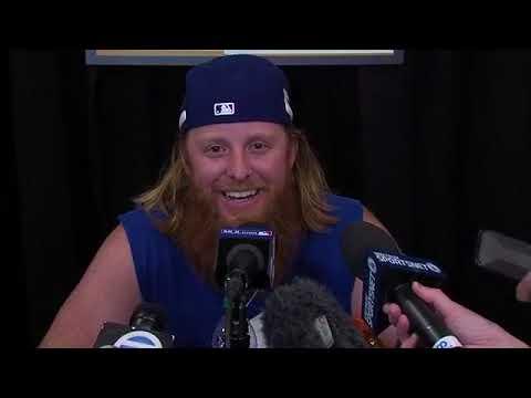 Justin Turner Pregame Interview   Dodgers vs Astros Game 1 ...