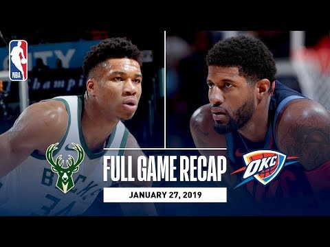 Full Game Recap: Bucks vs Thunder | Paul Georges Impressive 36 Point Performance