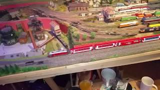 Spur N Modellbahn Bahnübergang restauriert / Wunschfahrvideo