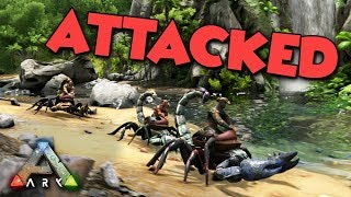 ATTACKED by a TRIBE - ARK Aberration Duo Survival Series #18