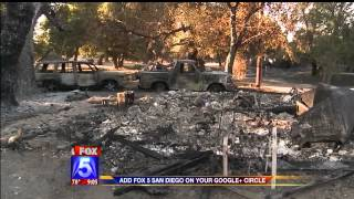 CAMPO FIRE HOMES BURNED