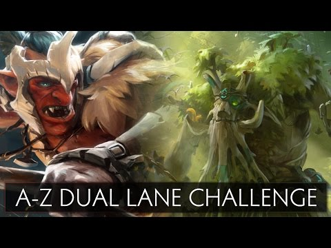 Dota 2 A-Z Dual Lane Challenge - Treant Protector and Troll Warlord